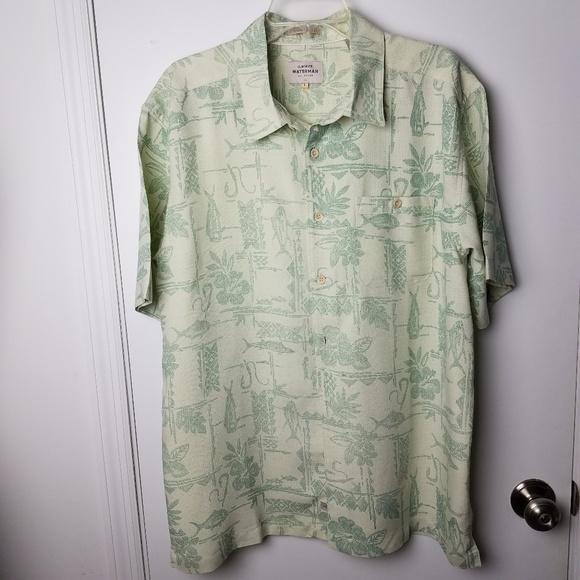 bb46daa2 Quiksilver Shirts | Quicksilver Waterman Collection Mens Shirt Size ...